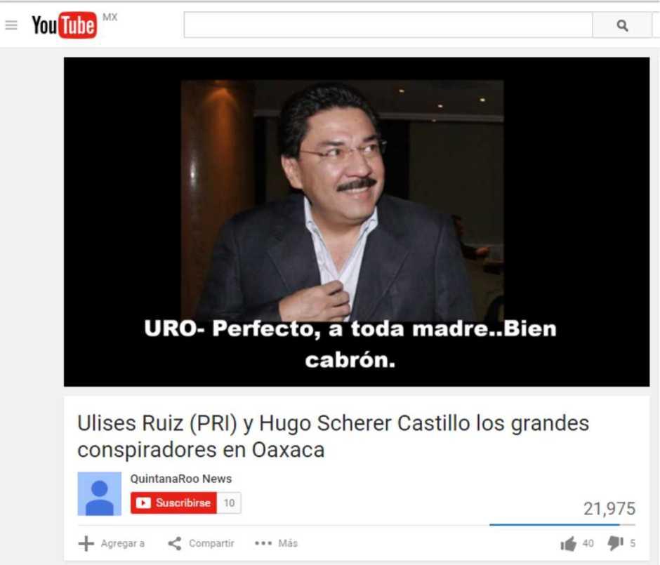 Grabación Ulises Ruiz Ortiz
