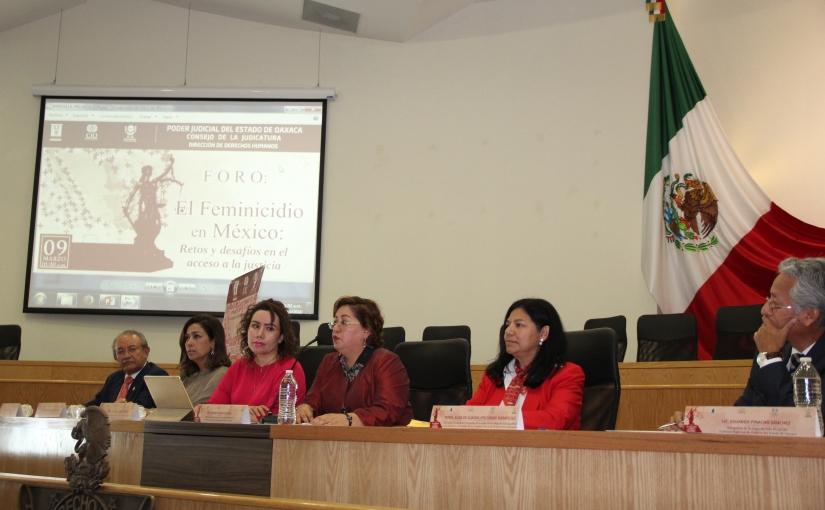 Realiza el TSJO foro sobre  el feminicidio enMéxico
