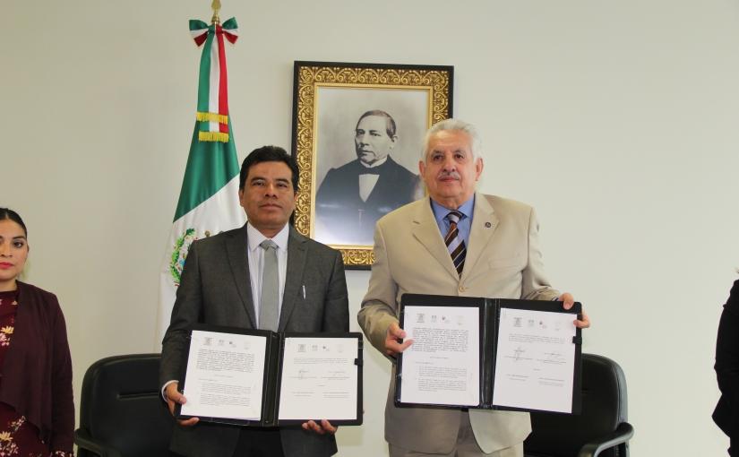 Poder Judicial y UABJO firman convenio decolaboración