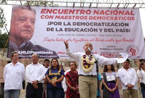 """Engaña la CNTE con supuesto """"pacto con las bases"""", convocado por AMLO, para derogar la reformaeducativa"""