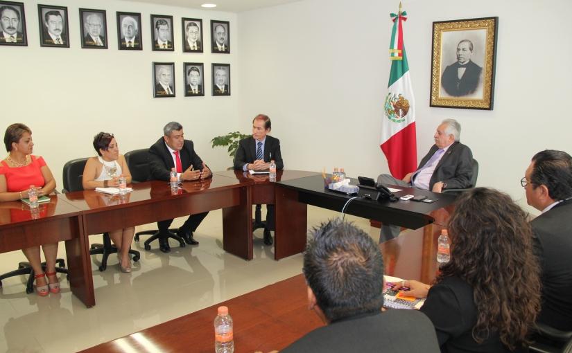 Bolaños Cacho sostiene reunión con comité directivo delSTPEIDCEO