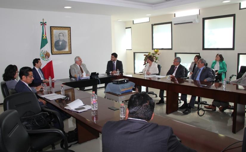 Se reúne el magistrado Bolaños Cacho con funcionarios deCONAMER