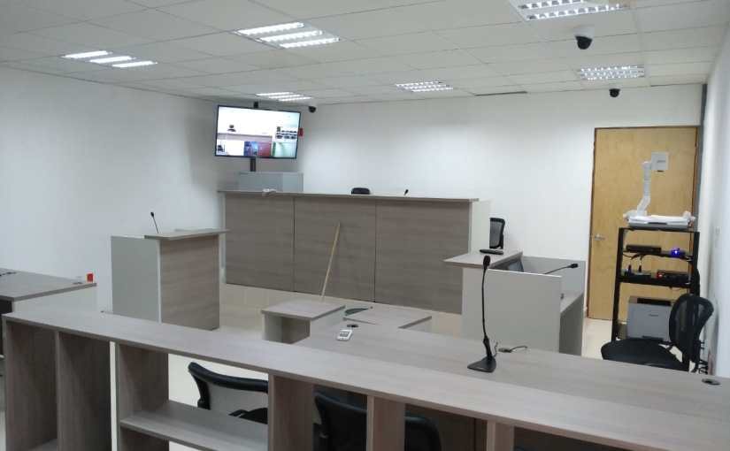 Realizan instalación de 20 salas de audiencias para al oralidadpenal