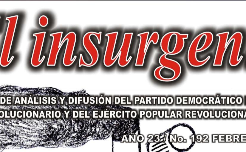 """Difunde EPR edición No. 192 de """"Elinsurgente"""""""