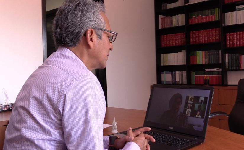 PJE innova al utilizar aplicación tecnológica para reunionesvirtuales