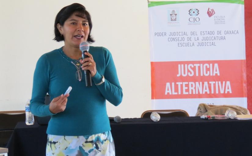 Impulsa PJE en Oaxaca la justicia alternativa con enfoquehumano