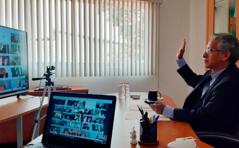Reafirma Magistrado Eduardo Pinacho diálogo constructivo con tribunales de justicia delpaís.