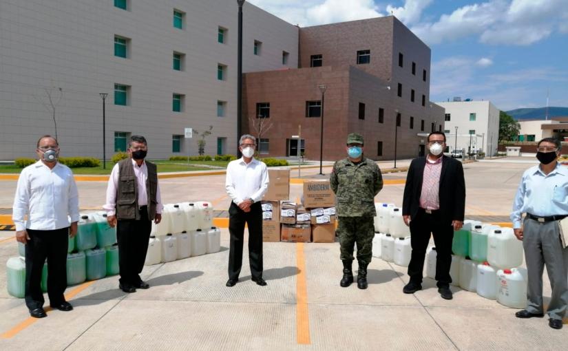 PJE responde ante contingencia y dona insumos médicos a instituciones desalud
