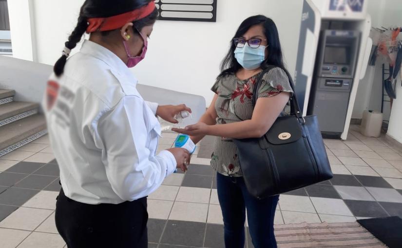 Poder Judicial cumple con protocolos sanitarios en susinstalaciones