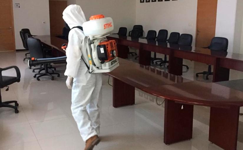 Continúa PJE sanitización y limpieza en inmueblesjudiciales